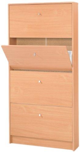 Tvilum 4106741 Shoe Cabinet, Beech
