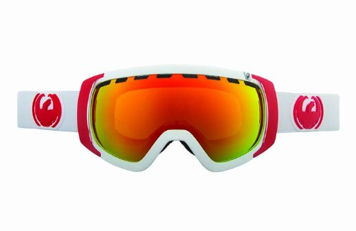 Dragon Alliance Rogue Snow Goggles, White, Pink Ionized