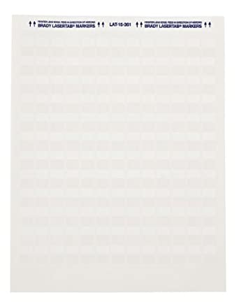 "Brady LAT-39-361-1 1"" Width x 1.437"" Height, B-361B Self-Laminating Polyester, Matte Finish White/Translucent Laser Printable Label (Pack of 1000)"