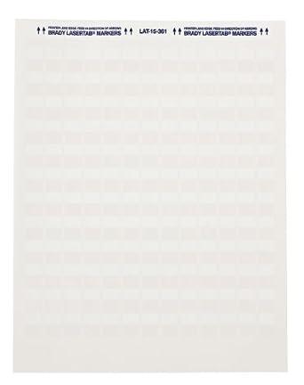 "Brady LAT-39-361-1 1"" Width x 1.437"" Height, B-361B Self-Laminating Polyester, Matte Finish White/Translucent Laser Printable Label (Pack of 1000)"