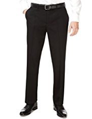 Big & Tall Flat Front Straight Leg Twill Trousers