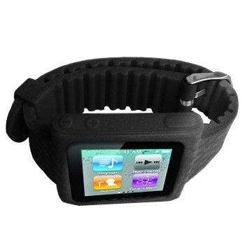 Cbus Wireless Black Silicone Sports Watch Band Wrist Strap For Ipod Nano 6Th / Nano 6G / Nano 6Th Gen