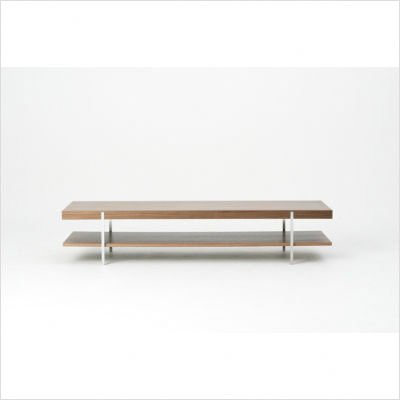 Munro Rectangle Coffee Table with Shelf Finish: White Oak