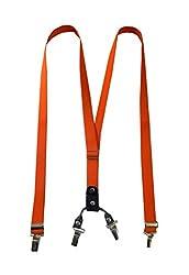 Navaksha Slim Orange Adjustable Suspender