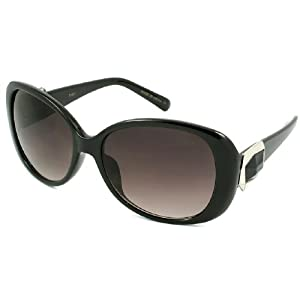 Lightweight Fashion Black Plastic Sunglasses with 100% UV Protection Lens