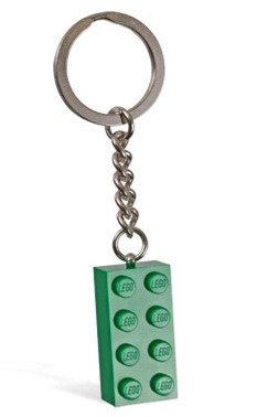 LEGO Green Brick Key Chain - 1
