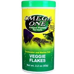 Omega One Veggie Flakes Fish Food 2.2 Ounce
