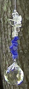 Clear Quartz and Lapis Suncatcher