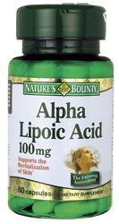 Nature'S Bounty Alpha Lipoic Acid, 100 Mg, Capsules, 60 Ct.