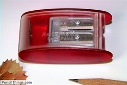 Long Point Metal Pencil Sharpener, Two-Step Automatic Stop, 2 spare blades