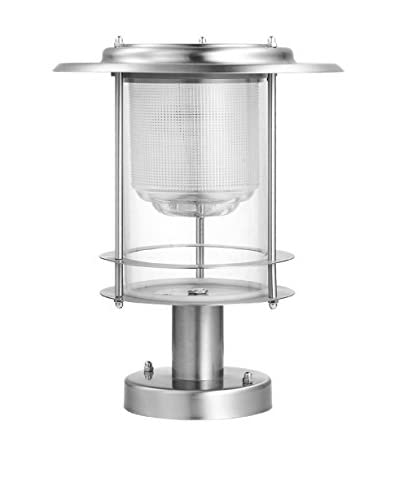 BTR-Germany Pro Design LED Solar Post Light, Silver