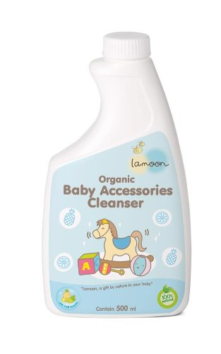 La-Moon Organic Baby Accessories Cleanser (Refill) 500Ml. Mild & Gentle On Skin. No Sls, Sles/ No Parabens/ No Sulfates front-435119