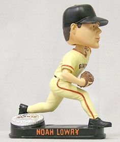 Buy Low Price Forever Collectibles San Francisco Giants Noah Lowry Forever Collectibles Blatinum Bobble Head Figure (B000VUXNOE)