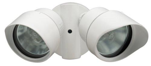 Lithonia OFTR 200Q 120 LP WH M12 Designer Adjustable Twin Head Flood Light Quartz Halogen, White