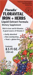 Salus Floravital Iron + Herbs, 8.5-Ounce front-449008