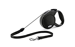 Flexi Explore Retractable Cord Dog Leash, Small, 23-Feet Long, Supports up to 26-Pound, Black