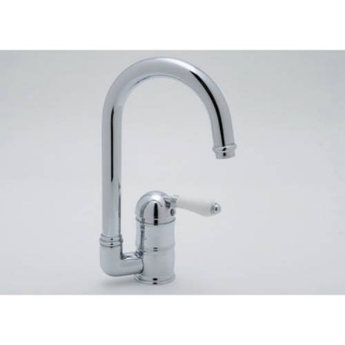 Rohl A3606/6.5LPAPC-2 Country Kitchen Bar Faucet with Porcelain Lever Handle, Polished Chrome