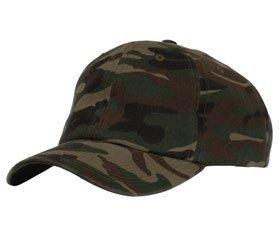 Fahrenheit® Unstructured Garment Washed Camouflage Cap with a Velcro