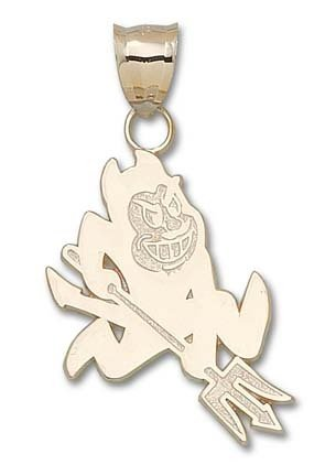 Arizona State Sun Devils Sparky Pendant - 14KT Gold Jewelry by Logo Art