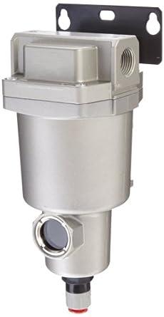 "SMC AMG150C-N02BC Water Separator, N.C. Auto Drain, 300 L/min, 1/4"" NPT, Mounting Bracket"