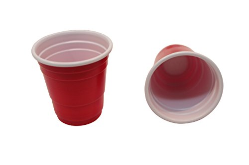 DrinkMate 20 Mini Red Disposable Shot Glasses ,Pack of 3