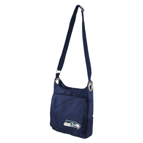 NFL-Seattle-Seahawks-Womens-Color-Sheen-Cross-Body-Purse-Navy