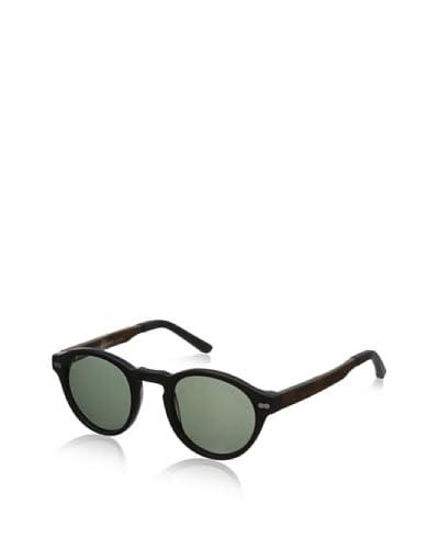 Ivory + Mason Men's Robertson Sunglasses, Matte Black/Walnut