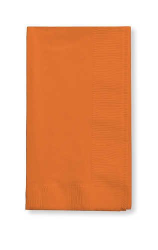 Creative Converting Value Pack Paper Dinner Napkins, Sunkissed Orange, 75 Count