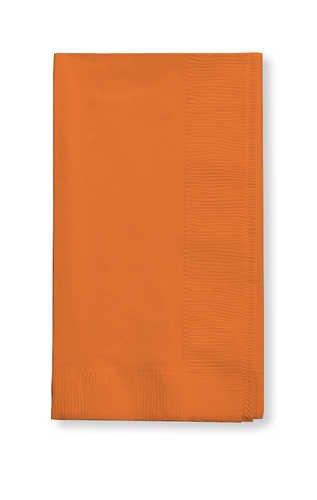 Creative Converting Value Pack Paper Dinner Napkins, Sunkissed Orange, 75 Count