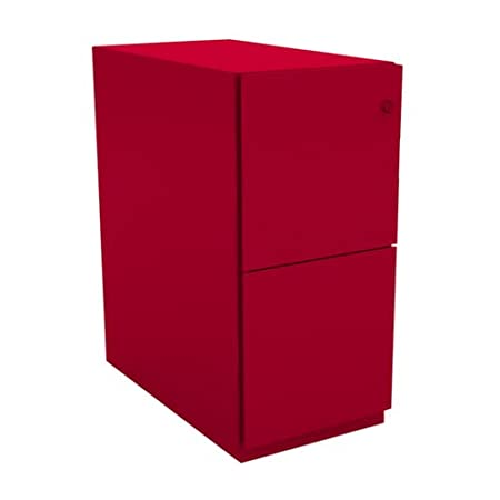 Bisley NW352M7FF 64 cm Note Pedestal 2 Filing Drawers - Cardinal Red
