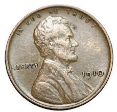 "1910 Lincoln ""Wheat"" Cent - 1"