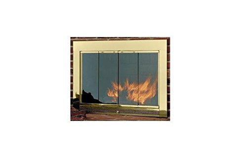 Hearth Craft 04717f Slimline4633Pol Fireplace Door-Masonry44; Polished Brass44; 46 x 33 In. (Fireplace Glass Doors Brass compare prices)