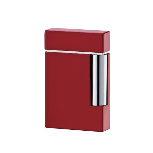 St Dupont Ligne 8 Red Lacquer Traditional Flame Lighter