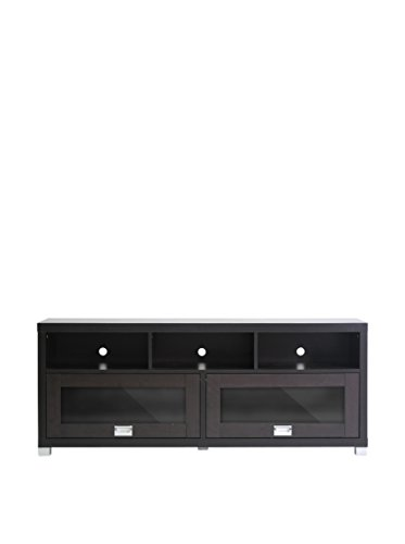Baxton Studio Swindon Modern TV Stand with Glass Doors photo