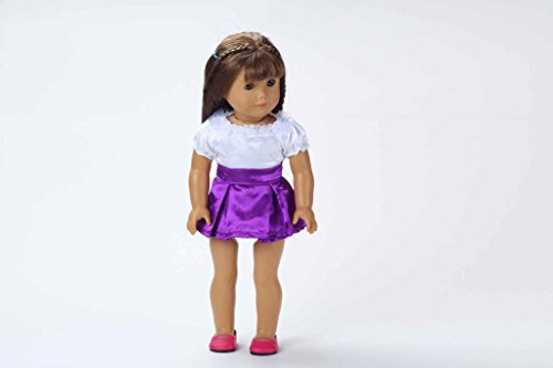 Teenitor(TM) Pink Shirt + Purple Skirt Fits 18 Inch Girl Dolls (Shipping By FBA)