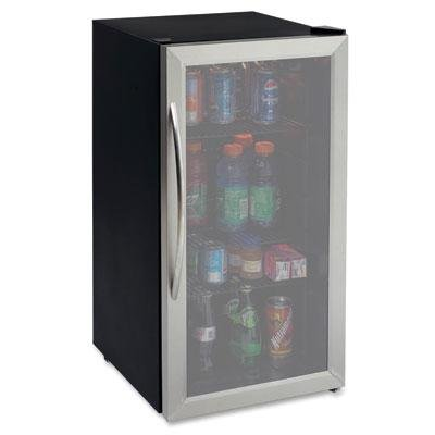 Avanti 3.1 Cubic Foot Beverage Cooler / Sylish Black Cabinet With Stainess Steel Framed Double-Pane Tempered Glass Door (Glass Front Door Refrigerator compare prices)