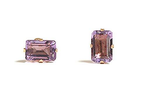 9ct-gold-emerald-cut-amethyst-stud-earrings