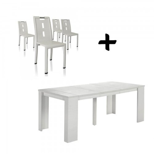 Table extensible chaises pas cher for Acheter table extensible