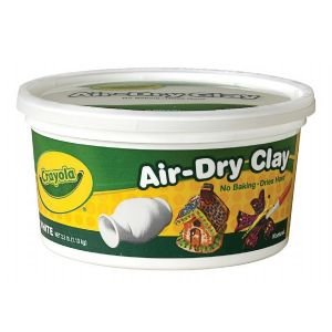 6 Pack AIRDRY CLAY 2.5LB BUCKET WHITE Drafting, Engineering, Art (General Catalog)