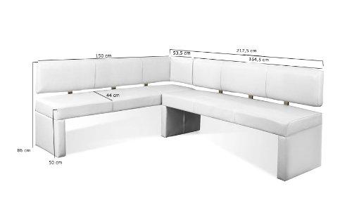 sam eckbank selena in wei ihre variante 150 x 233 5 cm. Black Bedroom Furniture Sets. Home Design Ideas