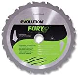 Advanced EVOLUTION (POWERTOOLS) - FURY BLADE 185MM - BLADE, M/PURPOSE, TCT, FURY, 185MM - Min 3yr Cleva Warranty