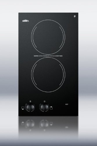 "12"" Two Burner Electric Cooktop In Black Voltage: 110V"