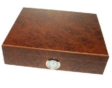 Bargain 20 Count Cedar Cigar Humidor - Burl Effect