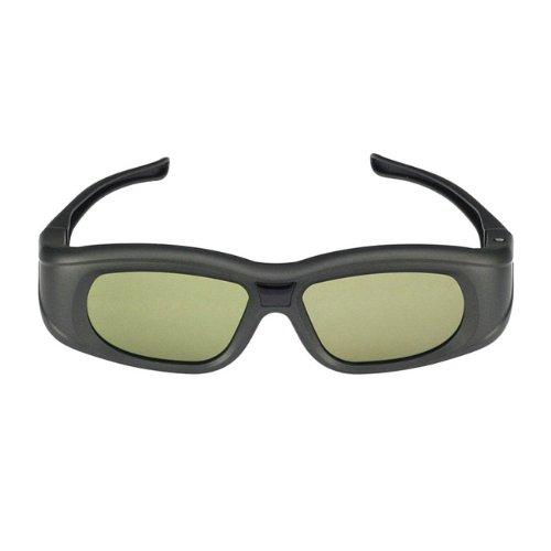 SainSonic Galilei Series G111 Rechargeable 3D Active Shutter Eyewear for Panasonic 2012 VIERA 3D HDTVs and 2011/2012 Samsung 3D HDTVs, RF (Bluetooth), Black, Set of 1