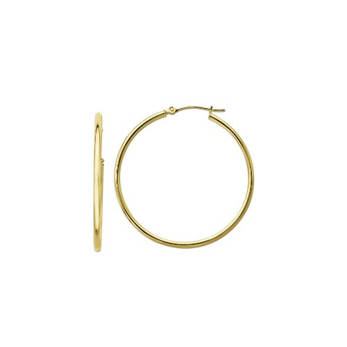 Klassics 10k Yellow Gold Polished Hoop Earrings, (0.7