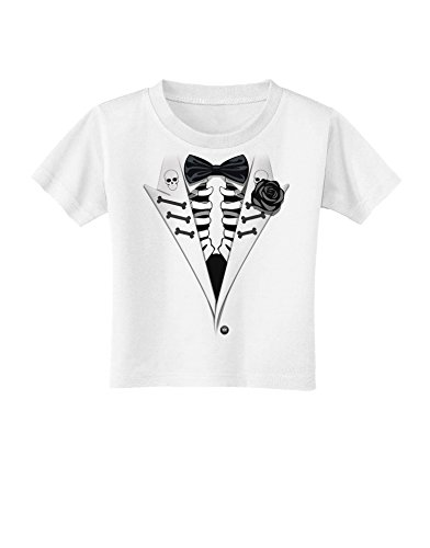 Skeleton Tuxedo Halloween Toddler T-Shirt