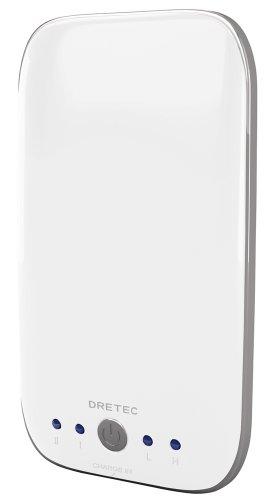 DRETEC 充電式カイロ 「エコウォーマープラス」 ホワイト HW-203WT