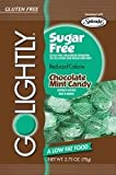GoLightly Sugar Free Chocolate Mint Candy, 2.75-Ounce Bags (2 PACK)