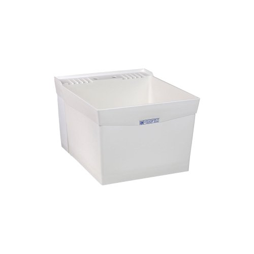 Mustee 19W Utilatub Laundry Tub Wall Mount, 24-Inch x 20-Inch, White