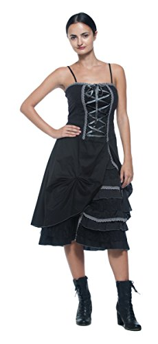 Women's Steampunk Victorian Inspired Corset Style Chemise Bustle Petticoat Dress